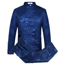 Tang Suit Men Traditional Chinese Clothing Tops and Pants
